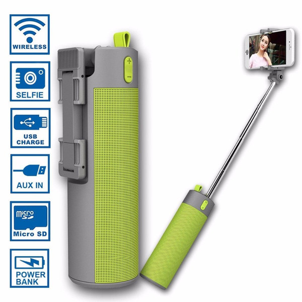 Bluetooth reproduktor so selfie stick